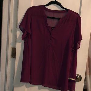 Torrid maroon color blouse size 00